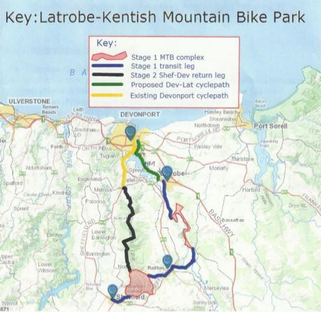 Latrobe Kentish MTB Park Map