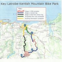 Latrobe-Kentish Mountain Bike Trail Network Update at 7 August 2014