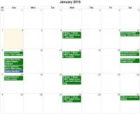 January 2015 Event Calendar