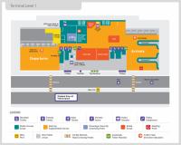 Launceston Airport Map showing bike facilities