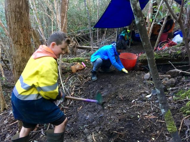 Mt Wellington/kunanyi Trackcare October 2021 Dig Day (Upper Luge)