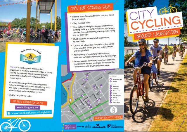 New Launceston City Cycling Map